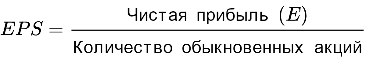 формула расчета EPS