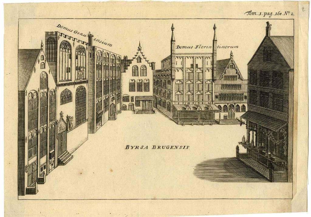 Первая европейская биржа на площади de Burse
