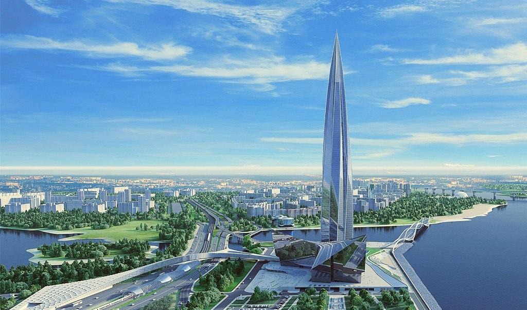 новое здание компании Газпром