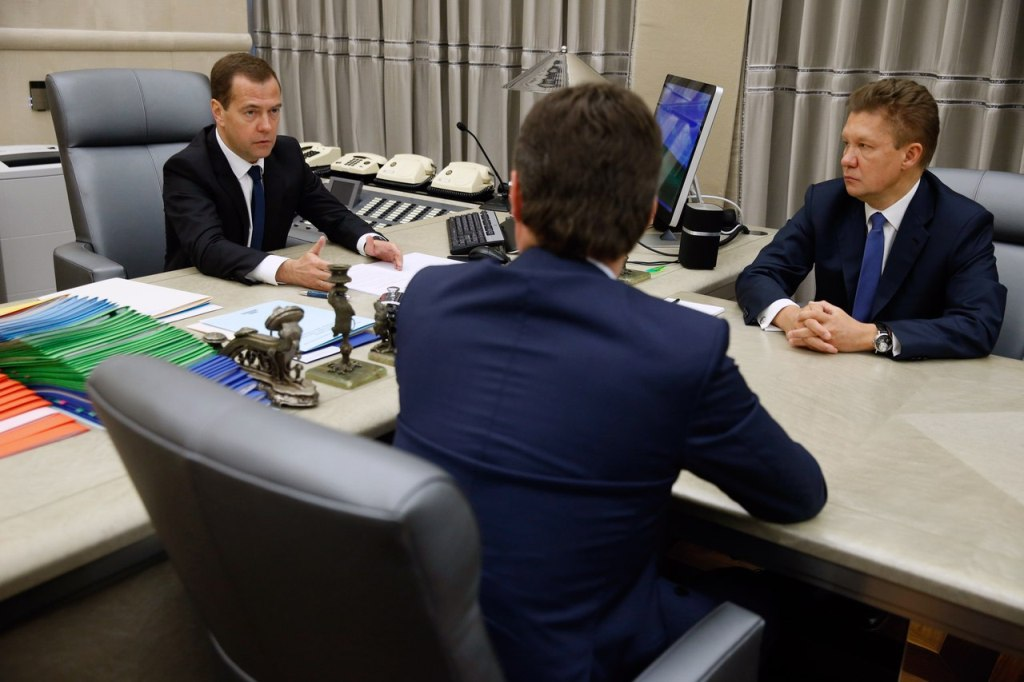 Дмитрий Медведев, Алексей Миллер