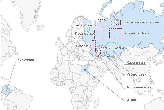 Запасы нефти и газа компании Лукойл
