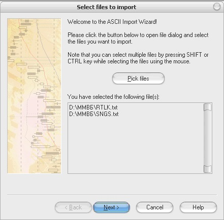 AmiBroker - Select files to import - Pick files