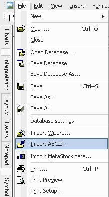 AmiBroker - File - Import ASCII