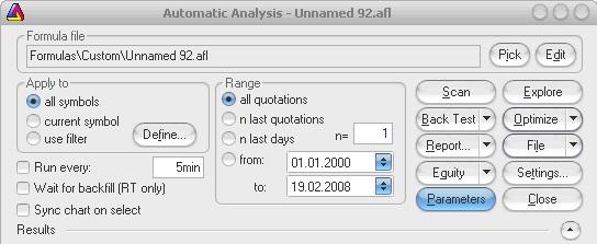 AmiBroker - Automatic Analysis - Parameters
