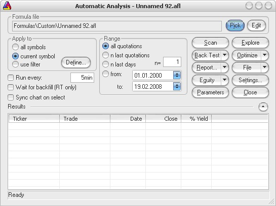 AmiBroker - Automatic Analysis