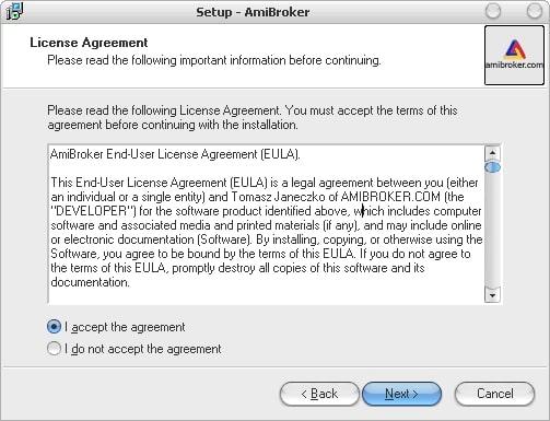 лицензионное соглашение AmiBroker