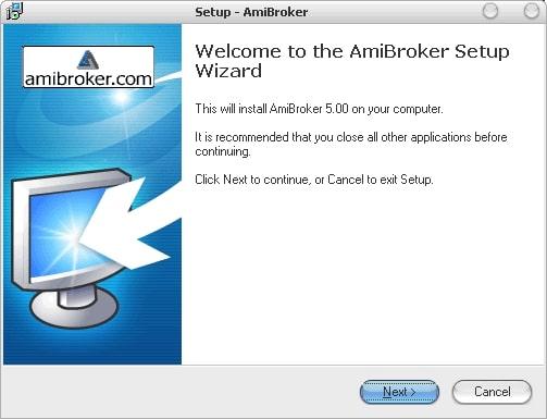 запускаем установочный файл AmiBroker